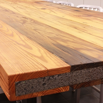 Rustic Heart Pine Table Top