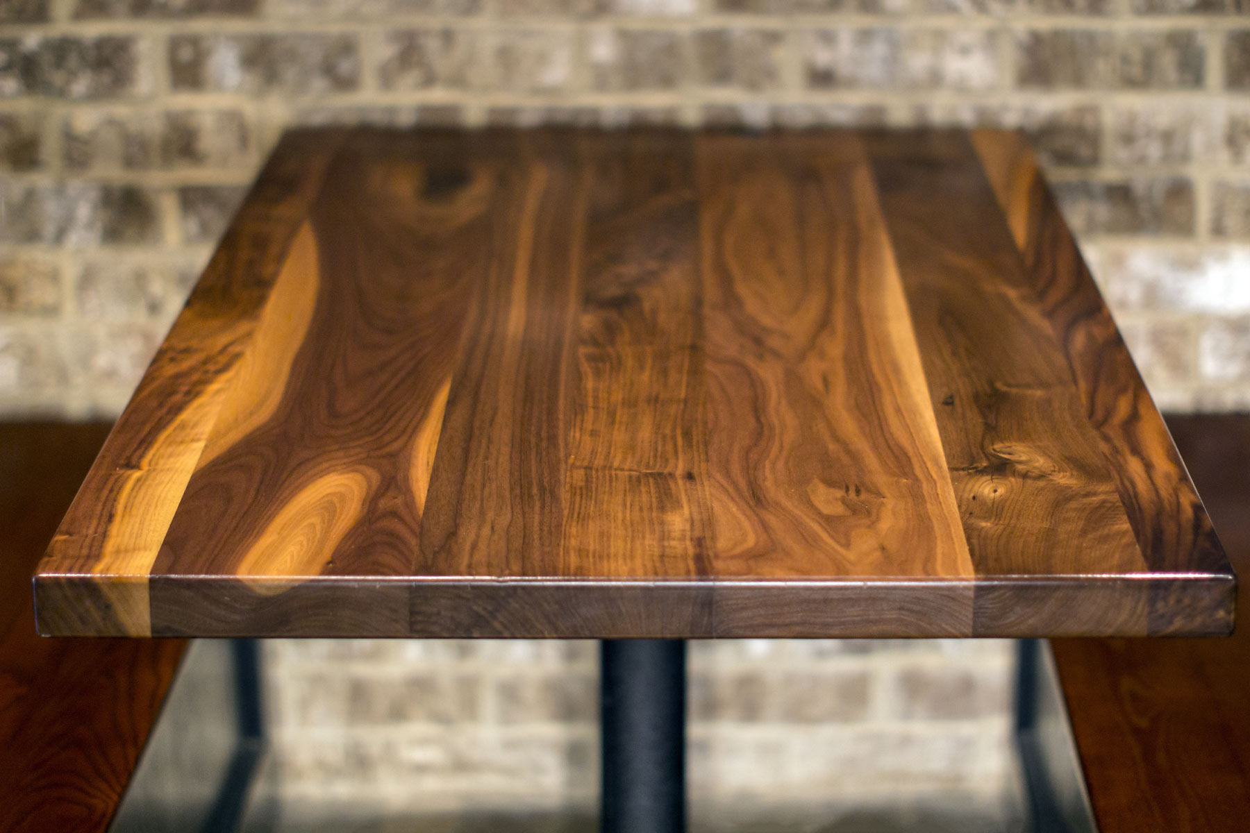 Restaurant Table Top In Rustic Walnut