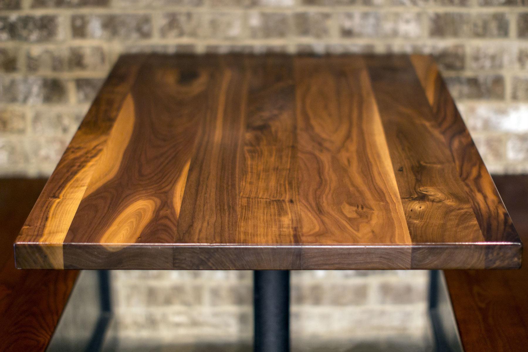 Restaurant Table Top In Rustic Walnut